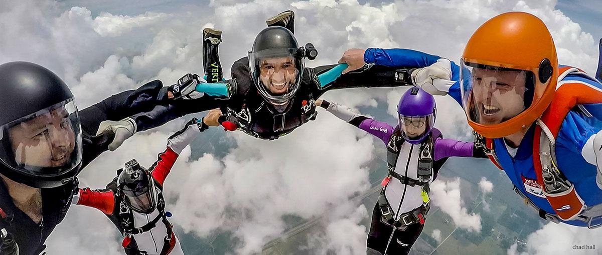 Hybrid skydive by Chad Hall