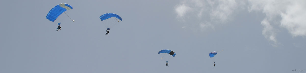 Tandem skydiving parachutes