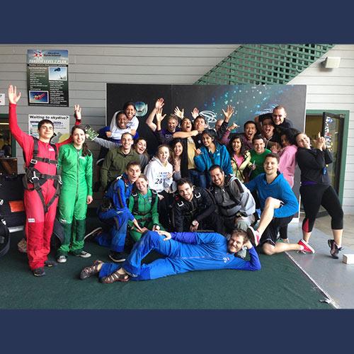 Skydiving Group Deposits