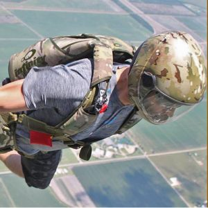 Military jumper skydive